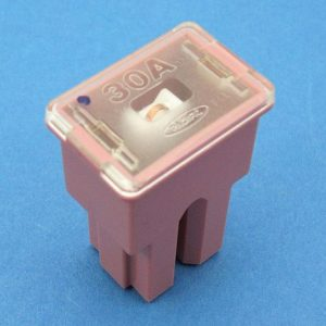 30  amp PAL Cartridge style fuse ( pink)