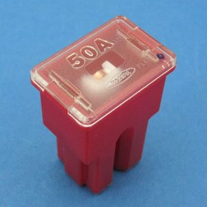 50 amp PAL Cartridge style fuse ( red)