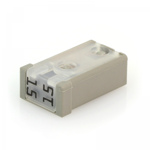 15 Amp MCase Cartridge Style Female Fuse 2.8mm – time delay ( Gray)