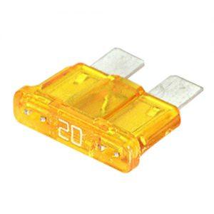 20 Amp ATC/ATO blade fuse  ( Yellow)