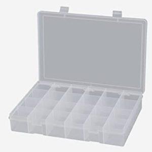 18 compartment PVC box – SP18-CLR