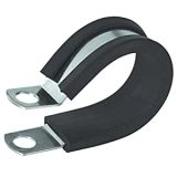 1/4″ neoprine partial cushioned stainless steel clamps-1/2″ width