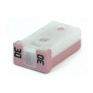 30 Amp MCase Cartridge Style Female Fuse 2.8mm – time delay (pink)
