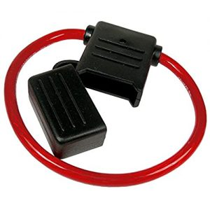 8 ga MAXI in-line fuseholder with cap ( red)