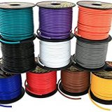 12 gauge primary wire- GXL- brown- 500  ft- USA