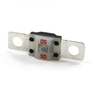 50 amp Clear MIDI High Amp(Time Delay) Fuses