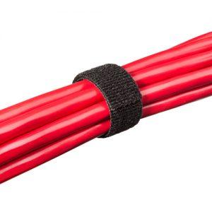 Hook & Loop Fastener, 1/2″, Black, Roll of 75 ft