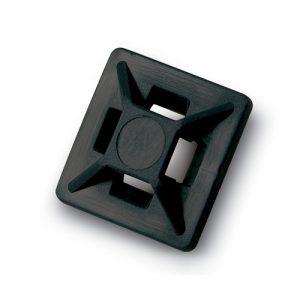Mini 4-way Adhesive Mtg Base, 3/4″ sq, Black