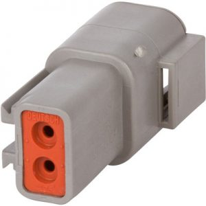 DTP04-2P – DTP SERIES – 2 PIN RECEPTACLE HOUSING-GRAY