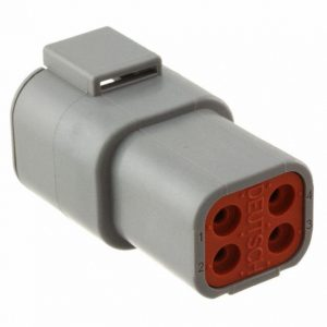 DTP04-4P-DTP Series-4 pin recepticle Housing- Gray