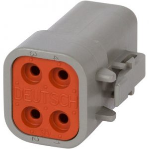 DTP06-4S-DTP Series- 4 pin socket plug housing-gray