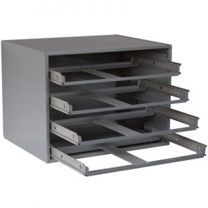 4 drawer metal holding drawers-large slide racks 303-95