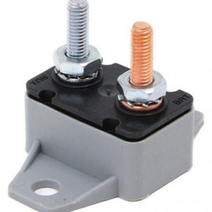 50 amp circuit breakers -PVC- Standard Type 1 – 12 v- right angle bracket