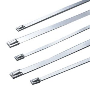 Stainless Steel Cable Ties , 100 lb tens, 8 ""