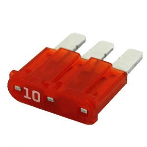 10 Amp Micro-3 style blade fuse ( Red)