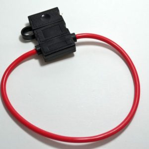 14 gauge in-line ATC-ATO fuseholder with cap ( red)