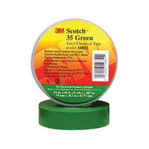 Green electrical tape , 3M, 35 Plus -Green