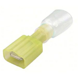 Heat Shrink Push-on Terminal, Male, .250″, 12-10 Ga
