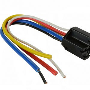 Standard 12 volt relay base w/ 5 -16 ga wires