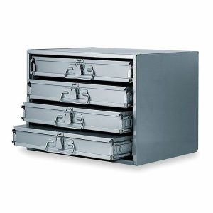 4 drawer metal holding drawers- large slide racks with boxes