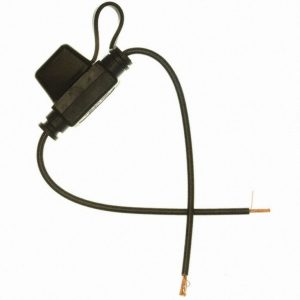 16 gauge in-line MINI fuseholder with cap ( black)