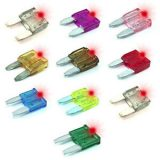 10 Amp Mini LED Smart glow Fuse ( Red)