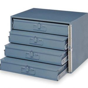 4 drawer metal holding drawers- small slide racks with boxes